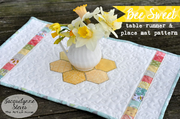 Bee Sweet Place Mat- Jacquelynne Steves