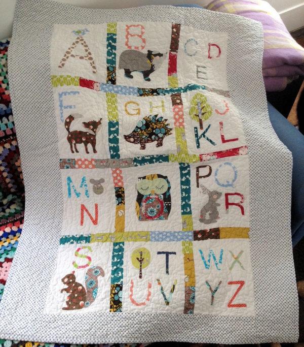 woodland alphabet quilt 3