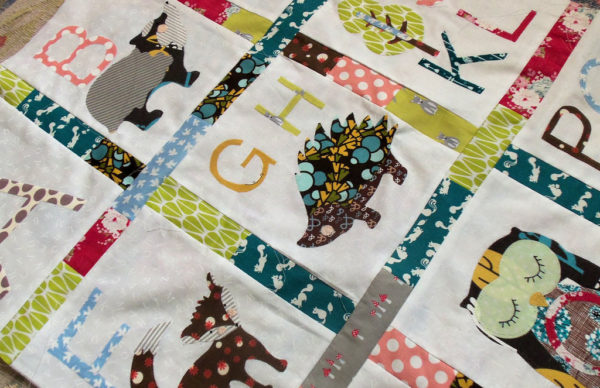 woodland alphabet quilt
